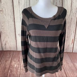Roxy brown striped sweatshirt size small